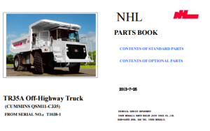 TEREX NHL TR35A Parts Manual