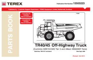 TEREX TR45 Parts Manual