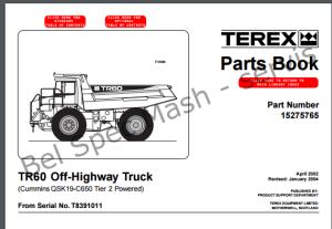 TEREX TR60 PARTS BOOK